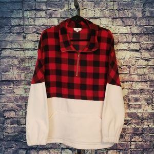 Entro Buffalo Plaid Pullover, Size XL